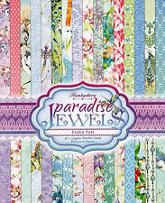 PARADISE JEWELS PAPER PAD 48 DOUBLE SIDED A4 SHEETS, 3 OF EACH, HUNKYDORY, NEW