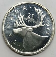 1965 Canada 25 Cent Quarter Silver Proof Coin (G277)