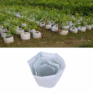 Round Fabric Pot Plant Pouch Root Container Grow Bag Aeration Container Black SD