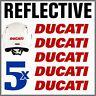 5pcs Rosso Rifrangenti Adesivi compatibile con Moto Ducati Monster 696 769 999