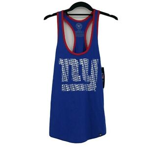 New York Giants Women's Racerback Tank Top Size Small Blue Red NFL Team Apparel
