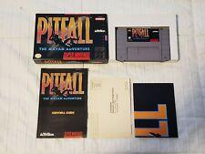 Pitfall The Mayan Adventure (Super Nintendo SNES) Authentic - Complete CiB