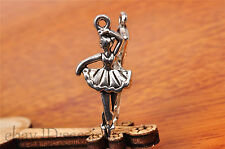 10pcs 31*14mm Charm lovers dance girl Diy Jewelry Bead Making For Bracelet 7206
