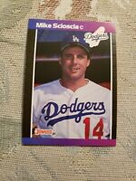 Mike Scioscia Los Angeles Dodgers 1989 Donruss Card Ungraded **