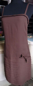 TOPSHOP FLAPPER BROWN DRESS