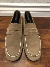 Bruno Magli Mens Tan Suede Moccasin Made In Italy Size 11M Us