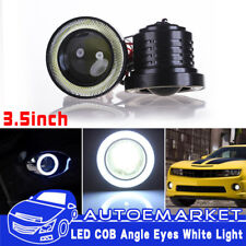 3.5Inch COB LED Fog Light Projector Car White Angel Eyes Halo Ring DRL Lamp USA