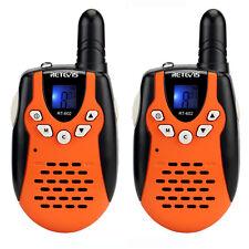 2x Walkie Talkie Retevis Rt-602 Two-way Radio Uhf 22Ch Vox for Kids Gifts Orange