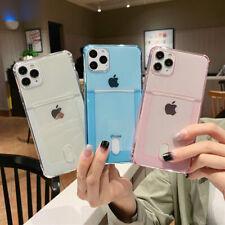 CARD HOLDER Case For iPhone 11 12 Pro XR X 7 8 SE2 Shockproof Cover Wallet Money