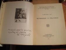 Hommage à PALAMAS (1859-1943) 8 décembre 1943