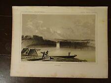 "Lithograph of ""DALLES"" /John Mix Stanley/1860 Railroad Survey Report"