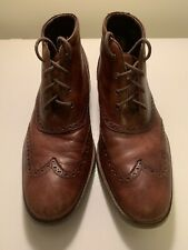 Cole Haan Liam Chukka Wing Tip Brown Leather Ankle Boots C11053 - Men's 9.5 M