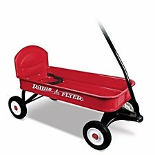 Radio Flyer 93B Classic Red Ranger Toy Childrens Wagon with Seat Belt