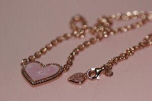 NIB LIMITED EDITION PANDORA ROSE™ PINK SWIRL HEART COLLIER NECKLACE 389279C01-50