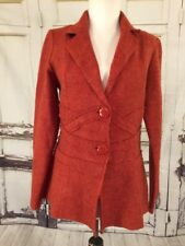 Cynthia Rowley Womens Jacket Small Wool Buttons Long Sleeve Collar S