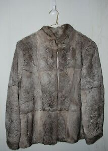 Vintage 80's-90's Genuine Gray Rabbit Fur Coat Womens Size M