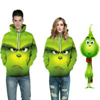 The Grinch Hoodies Sweater 3D Print Cos Costume Christmas How the Grinch Stole