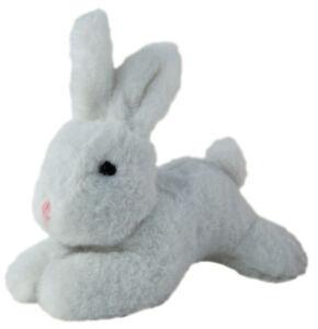 "Wascal Bunny soft plush toy 9""/22cm White Plush Toy by Elka"