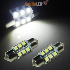 2pcs White 6428 DE3175 6428 31mm 6-SMD LED Bulbs Interior Dome Lights #19