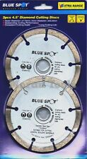 "Diamond cutting disc 115mm 4 1/2"" 2pc wheel angle grinder blade general purpose"