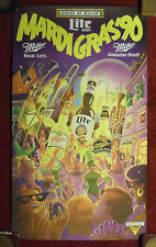 Miller Beer Poster ~ 1990 Mardi Gras Parade New Orleans Louisiana Nice Art