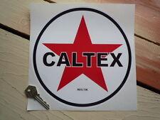 CALTEX 215mm Petrol Pump Sticker Petrolania Gas Station Americana Car Race Rally