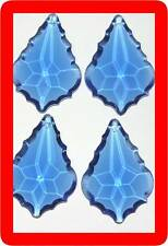 "10 French crystal CHANDELIER prism lot 50mm 2"",blue"