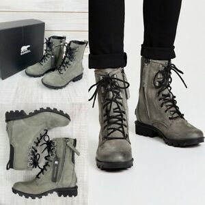 Sorel Phoenix Lace-up Boot In Quarry Waterproof Size 6.5 New
