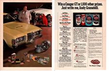 1971 WIN A COUGAR / ANDY GRANATELLI ~ ORIGINAL 2-PAGE STP AD