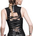 Devil Fashion Noir top gilet dos nu avec laçage gothique visual kei