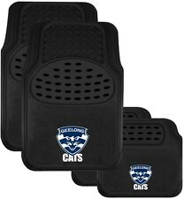 84708 GEELONG CATS AFL TEAM LOGO SET OF 4 CAR FLOOR MATS FOR MOTOR VEHICLE