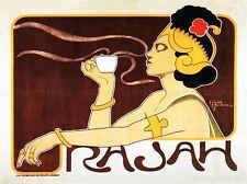 ADVERT CAFE RAJAH COFFEE FOOD BRITISH UK AROMA VINTAGE POSTER ART PRINT 794PYLV