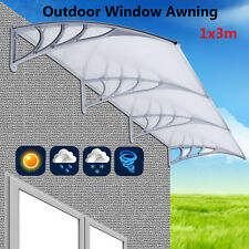 120 x 40 Awning For Windows & Doors Polycarbonate 6mm Clear Hollow Sheet