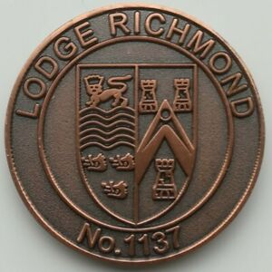 MASONIC MARK TOKEN PENNY LODGE RICHMOND 1137