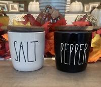 Rae Dunn by Magenta Salt & Pepper - Wood Top - Black & White Gift Set - NWT