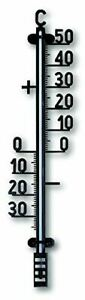 TFA 12.6004–Outdoor Thermometer, Plastic, Black
