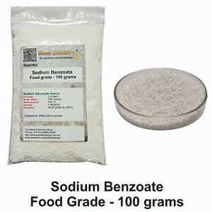 100g - Sodium Benzoate Food grade - benzoate of soda  E211 preservative C7H5NaO2