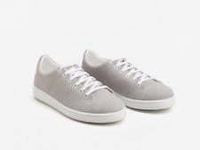 Mango SIMONA Grey Authentic Leather Sneakers