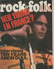 """ROCK & FOLK n°74 mars 1973"" Neil YOUNG (Photo Chuck PULIN)"