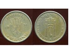 NORVEGE  1 krone 1951  ( bis )
