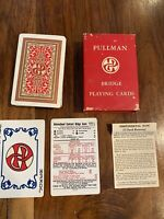 Vintage 1948 PULLMAN Railroad Boxed Single Deck BRIDGE Playing Cards Complete