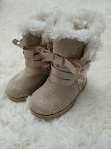 Koala Kids beige fur Boot Toddler Girls Size 4