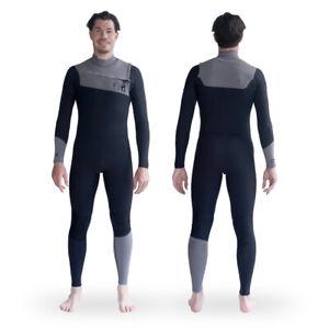 FIND™ Incept Mens Steamer 3/2mm Flatlock Chest Zip Wetsuit Steamer Long Sleeve