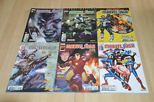 lot 6 albums Marvel Saga tomes 1 2 4 7 15 17 (Iron Man, Avengers) Panini Comics