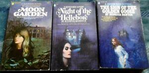 (3) VTG QUEEN SIZE GOTHIC POPULAR LIBRARY 1972-'74 VG SIGN/GOOSE MOON GARDEN