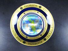 Florida State Plata Plato Oro Platificado 11 cm, Souvenir USA América