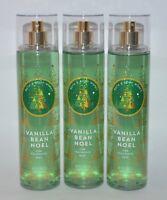 3 BATH & BODY WORKS VANILLA BEAN NOEL FINE FRAGRANCE MIST SPRAY 8 OZ LARGE LOT