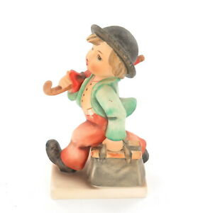 .Vintage 1970s Goebel Hummel, W. Germany Figurine #11 'Merry Wanderer' TMK5
