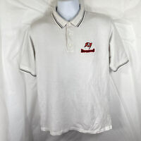 Vintage Tampa Bay Buccaneers Mens Medium Golf Polo Gray Embroidered Shirt M