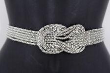 Unbranded Metal/Chain Geometric Medium Width Belts for Women
